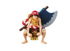 Figure of Monkey D. Luffy (Film: Gold SCultures) Ver.) from the anime series One Piece. Figure made of PVC material, 13 cm tall, by Banpresto.