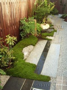 Japanese inspired garden detail