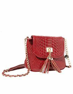 Big Buddha Latte PVC Handbag Red