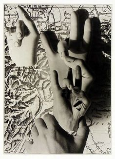 Hands Act by Herbert Bayer, 1932. Gelatin silver print and photomontage.