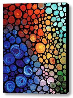 Abstract 1 Mosaic Buy Art Prints Canvas
