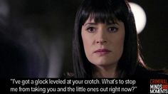 Criminal Minds Moments_Emily gets defensive with Ian Doyle Criminal Minds Funny, Criminal Minds Cast, Criminal Record, Best Tv Shows, Favorite Tv Shows, Movies And Tv Shows, Behavioral Analysis Unit, Crimal Minds, Paget Brewster