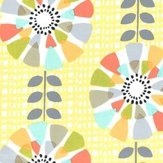 PC6291 petal pinwheels canary yellow sunshine pastels flowers petals leaves