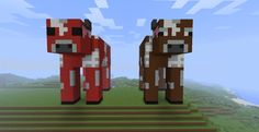 +minecraft+cow | Minecraft - Cow and Cow Mushroom Statue Minecraft Project