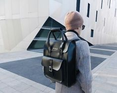 The Large Kiev Backpack in black, shared by voguebitches.