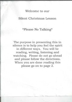 Silent Christmas Lesson | Scribd