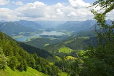 Looking down on the Wolfgangsee