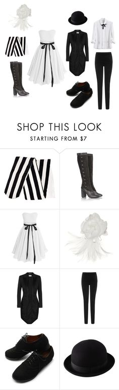 """Living Statues the Lovers"" by rebellious-ingenue ❤ liked on Polyvore featuring H&M, Marc Jacobs, Giovannio, Yves Saint Laurent, L.K.Bennett, Ollio, Uniqlo and thenightcircus"