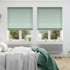 Sophie Sea Green Roman Blind from Blinds 2go