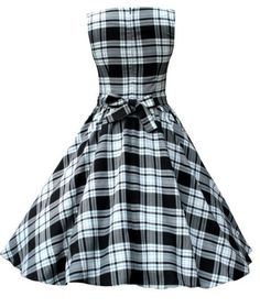 1950s vintage Gingham dress 50s retro Hepburn Rockabilly Swing Dresses For Party/Day/School(China (Mainland))
