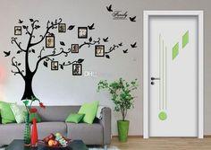 retrato da família photo frame árvore de parede arte das citações adesivos de vinil decalques home decore