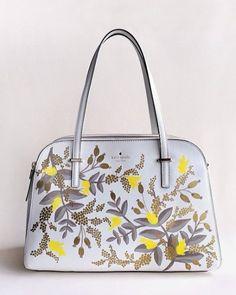 Floral Hand-painted leather bag - Kate Spade bag - Anna Bond stationary designer @annariflebond