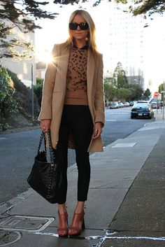 Bee in camel and black...should probably have a board just devoted to Blair Eadie of Atlantic Pacific