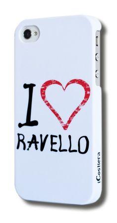 """""""I Love Ravello"""" White version - Mellogs iCostiera per iPhone 5/5S"""