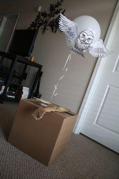 Click for Hogwarts acceptance box for birthdays. http://harrypotterhumor.tumblr.com/post/18583499705/sing-them-to-silence-alyssas-harry-potter