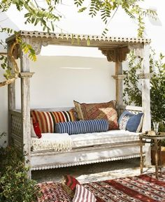 #Moroccan-inspired patio #couch with more than comfortable cushions