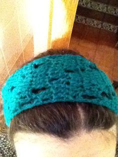 Cinta de pelo a crochet