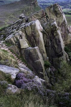 The Roaches steps, peak district, Staffordshire, England, by Emily Coghlan Places Around The World, Around The Worlds, England And Scotland, English Countryside, Nature Pictures, Beautiful Landscapes, The Great Outdoors, Places To See, Beautiful Places
