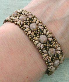 Linda's Crafty Inspirations: Bracelet of the Day: MiniDuo Band - Senegal Purple