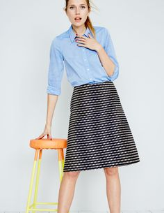 A skirt with pockets is essential for every women's workwear wardrobe