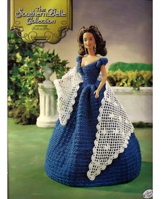 The Southern Belle  Collection Belle in Blue  Fashion Doll  Crochet Pattern  Annies Attic