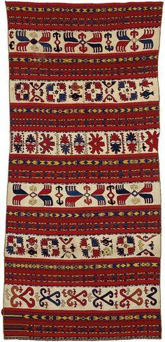 Uzbek Flatweave kilim, tribal rug, Lakai Tribes, Central Asia, Uzbekistan, 318 x 147cm, first quarter 20th century.