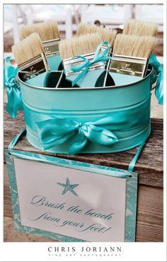 Cute idea for a beach wedding