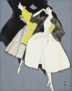 René Gruau | Eduardo - Week 2 | Sweden | Gouache, Watercolour & Acrylic | I like the flatness of the illustration with controlled black outlines and the contrasting black acrylic shadows.