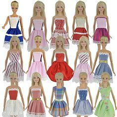 E-TING 5 piezas de moda hecha a mano los mini vestidos de ropa para Barbie muñeca E-TING https://www.amazon.es/dp/B00Y22CCNK/ref=cm_sw_r_pi_dp_O0Z7wbWTNF7NP