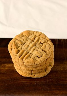 Chunky Peanut Butter Cookies - chunky peanut butter, salted peanuts
