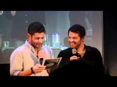 Supernatural's Jensen & Misha on Panel: Misha's old resume emerges from the depths of ebay to haunt him on stage. Jensen nearly dies laughing. I don't even watch this show, but watching interviews with these guys is entertainment enough!
