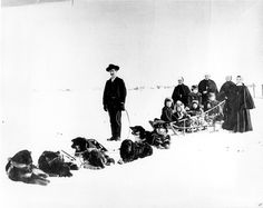 Sisters of Providence on a dogsled, Nome, Alaska, 1905 by Providence Archives, Seattle, via Flickr
