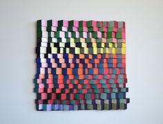 תמונה צבעונית, עיצוב בעץ, עבודת אמנות מקורית   ShyBanana   מרמלדה מרקט
