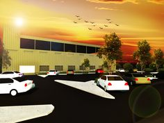 Architectural Rendering: Proposed Parking Layout