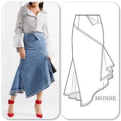 New fashion design drawings skirts 22 Ideas Fashion Flats, Denim Fashion, New Fashion, Trendy Fashion, Fashion Sewing, Dress Fashion, Fashion Design Drawings, Fashion Sketches, Clothes Draw