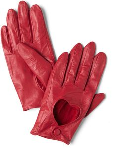 Heart-shaped cut out gloves