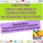 PDF File for Identifying Direct and Indirect Characterization. It is a versatile activity: Use in Small Groups (Literature Circles) or for an Indep... $2