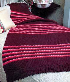 Striped Daisy Stitch Afghan