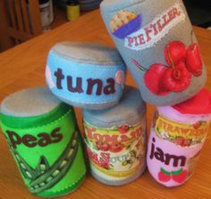 felt play food for the kitchen