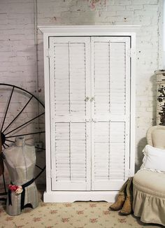 Shutters for closet doors