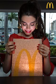 McD's illuminating new packaging is lighting up the streets of Miami as bags, shoes & hats!