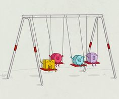 Mood swings Cool illustrations by Nabhan Abdullatif. Nabhan is a Muscat, Oman based graphic artist and illustrator mainly working on conceptual Puns Jokes, Funny Puns, Funny Stuff, Funny Things, Lmfao Funny, Random Stuff, Lame Jokes, That's Hilarious, Funny Art