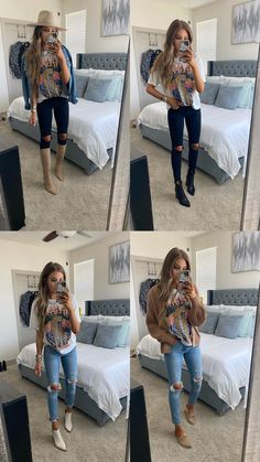 Band Shirt Outfits, Mom Outfits, Casual Outfits, Cute Outfits, Fall Fashion Outfits, Fall Winter Outfits, Spring Outfits, Autumn Fashion, Southern Outfits