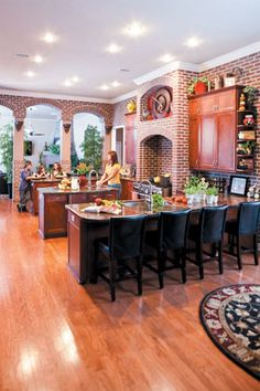 I would never think to do a kitchen like this.