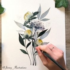 Watercolor Flowers Tutorial, Watercolour Tutorials, Floral Watercolor, Watercolor Paintings For Beginners, Watercolor Techniques, Drawing Techniques, Art Pastel, Flower Sketches, Flower Design Drawing