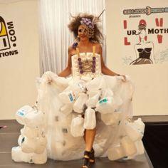 plastic jug dress - Love UR Mother Recycled Fashion Show 2011- Repurposed Fashion | Trashion | Refashion | Upcycled Fashion