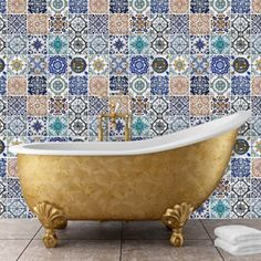 Mosaic Tile Wall Sticker #LavaHot http://www.lavahotdeals.com/us/cheap/mosaic-tile-wall-sticker/116219
