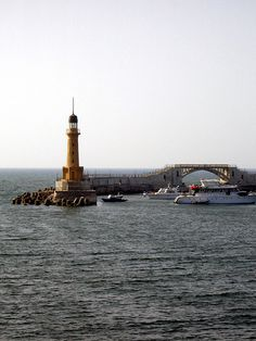 Lighthouse of Alexandria, Egypt  Once the site of one of the ancient wonders of the world