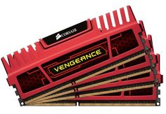 Corsair Vengeance Red 16GB (4x4GB)  DDR3 2133 MHz (PC3 17000) Desktop Memory (CMZ16GX3M4X2133C11R). Pin Out: 240 Pin. Density: 16GB (4x4GB Module). Timing: 11-11-11-27. Speed: 2133MHz. Max Memory Speed PC3 1700. Voltage: 1.5V. Vengeance Performance Memory modules 16GB (4x4GB) DDR3 2133MHz CL11 Unbuffered DIMM Memory with XMP 1.3 for AMD, Intel P67, Z68 and X79 Platforms. Dimensions: width: 588, height: 63 hundredths-inches. Limited Lifetime Warranty.