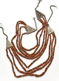 Yemen Necklace. Silver and coral. Posted by Thomas Stricker